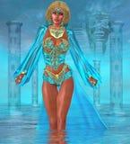 Ozean-Göttin, die im Wasser steht Lizenzfreie Stockfotografie