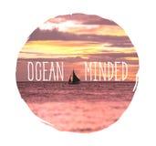 Ozean gekümmert lizenzfreie stockbilder