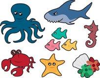 Ozean-Geschöpfe vektor abbildung