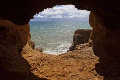 Ozean-Höhle stockbild