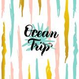 Ozean-Reise-Karte Stockfotos
