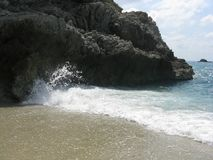Ozean ` s bewegt an seiner Schönheit wellenartig stockbilder