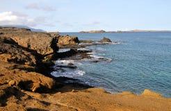 Ozean schaukelt nahe Klippe Stockbild