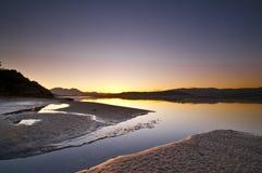 Ozean-Sonnenaufgang Lizenzfreie Stockfotos
