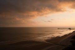Ozean-Sonnenuntergang Stockfoto