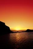 Ozean-Sonnenuntergang Stockbild