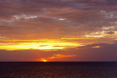 Ozean-Sonnenuntergang Stockfotografie