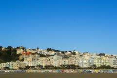 Ozean-Strand-Häuser stockfotos