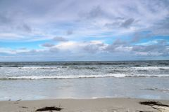 Ozean-Strandansicht Lizenzfreies Stockfoto