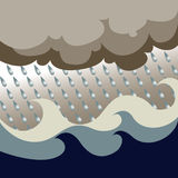 Ozean-Sturm-Vektor Lizenzfreie Stockbilder