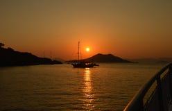 Ozean Sunset stockfotos