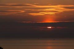 Ozean Sunset Lizenzfreie Stockbilder