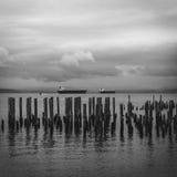Ozean-Szene von der Bucht Lizenzfreies Stockbild
