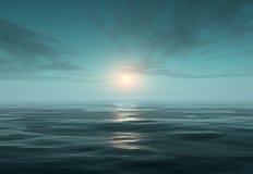 Ozean und Eis nachts stock abbildung