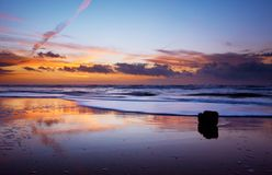Ozean und Sonnenuntergang Stockfoto