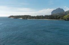 Ozean und Strand in Bel Ombre Mauritius Lizenzfreie Stockfotografie
