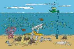 Ozean und Unterwasserwelt Lizenzfreie Stockbilder