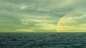 Ozean waterscape vektor abbildung
