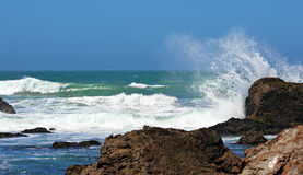 Ozean-Wellen-Spritzen Stockfotografie