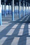 Ozeanansicht vom Pier stockfotos