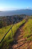 Ozeanansicht von der Schloss-Hügelspur Townsville Stockfoto