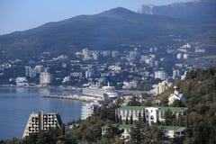 Ozeandampfer der Königin Elizabeth in Yalta, Ukraine stockbild