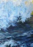 Ozeangezeiten gemalt mit Öl Stockfotos