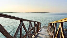 Ozeanholzbrücke Lizenzfreies Stockbild