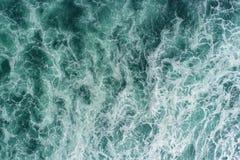 Ozeanmuster von oben lizenzfreies stockfoto