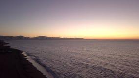 Ozeanoberfläche im Sonnenuntergang stock video