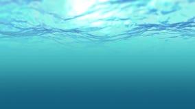 Ozeansmaragdwellenanblick unter Wasser vektor abbildung
