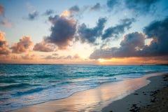 Ozeansonnenaufgang Stockfotografie
