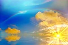 Ozeansonnenaufgang-Hintergrund Stockfotografie