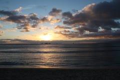 Ozeansonnenuntergang Lizenzfreie Stockfotografie