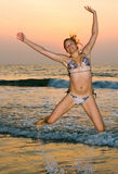 Ozeansonnenuntergang Lizenzfreies Stockfoto