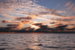 Ozeansonnenuntergang Stockbild