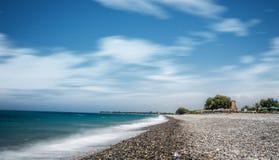 Ozeanstrand auf dem langen explosure Kretas Lizenzfreie Stockfotografie