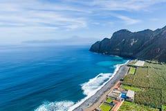 Ozeanstrand in La Gomera-Insel Kanarische Inseln, Spanien lizenzfreies stockbild