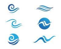 Ozeanstrand-Wellenlogo Stockbild