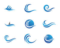 Ozeanstrand-Wellenlogo Lizenzfreie Stockbilder