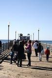 Ozeanufer-Pier lizenzfreie stockfotos
