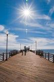 Ozeanufer-Pier Stockfotos