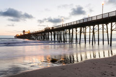 Ozeanufer-Pier, Kalifornien Stockfotografie