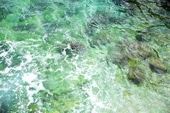 Ozeanwasserhintergrund Stockfotografie