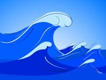 Ozeanwelle Stockfoto