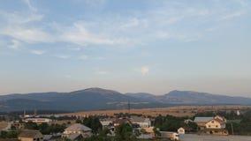 Ozeblin vrh взгляда Хорватии Udbina Стоковое Изображение