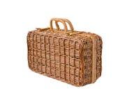 Łozinowa retro walizka Fotografia Stock