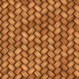 Łozinowego rattan bezszwowa tekstura dla CG Zdjęcie Stock