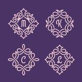 Łozinowi monogramy Obrazy Royalty Free
