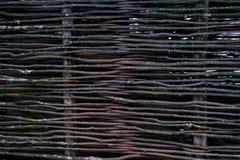Łozinowy element ogrodzenie tła ekologicznych liść naturalny deseniowy wicker zdjęcie stock
